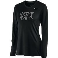 Willamette Striders TC 15: Nike Women's Legend Long-Sleeve Training Top - Black