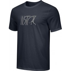 Willamette Striders TC 17: Youth-Size - Nike Combed Cotton Core Crew T-Shirt - Black