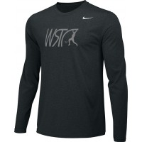 Willamette Striders TC 13: Adult-Size - Nike Team Legend Long-Sleeve Crew T-Shirt - Black