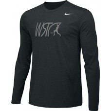 Willamette Striders TC 14: Youth-Size - Nike Team Legend Long-Sleeve Crew T-Shirt - Black