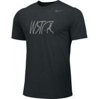 Willamette Striders TC 10: Adult-Size - Nike Team Legend Short-Sleeve Crew T-Shirt - Black