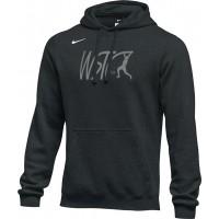 Willamette Striders TC 18: Adult-Size - Nike Team Club Fleece Training Hoodie (Unisex) - Black
